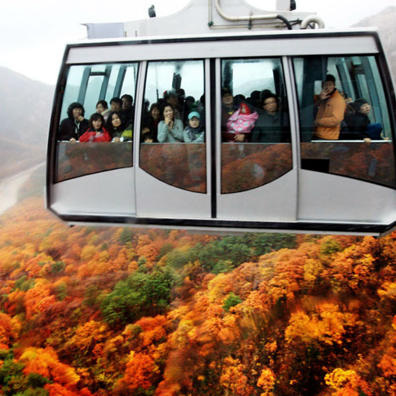 Seoraksan-fall-leaves-Mt-Seorak-Cable-car-going-up-autumn