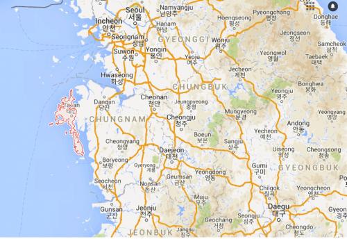 Taean map