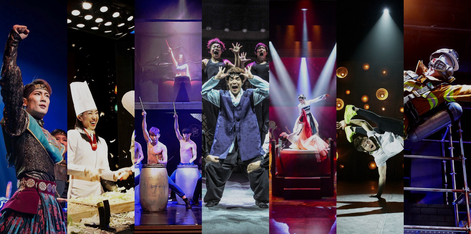 show-korea-Nanta, Jump, FantaStick, Fireman, CHEF Bibap, Lotus, Silla