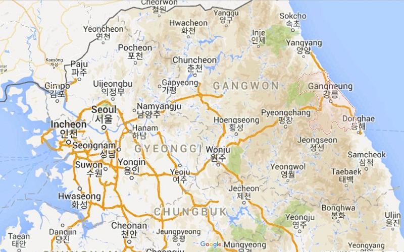 Gangneung-map