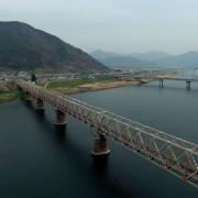 Busan-Gimhae-nakdonggang-River-railbike-aerial-view