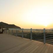 Busan-Gimhae-nakdonggang-River-rail-bike-view-sunset