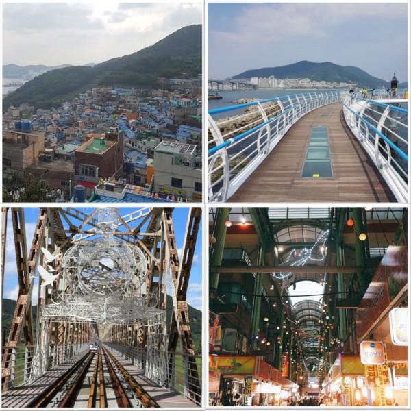 Busan-Gimhae-nakdonggang-River-rail-bike-Gamchon-Gukje-Market-Songdo-Skywalk-tour