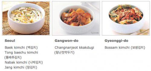 Regional Kimchi 1