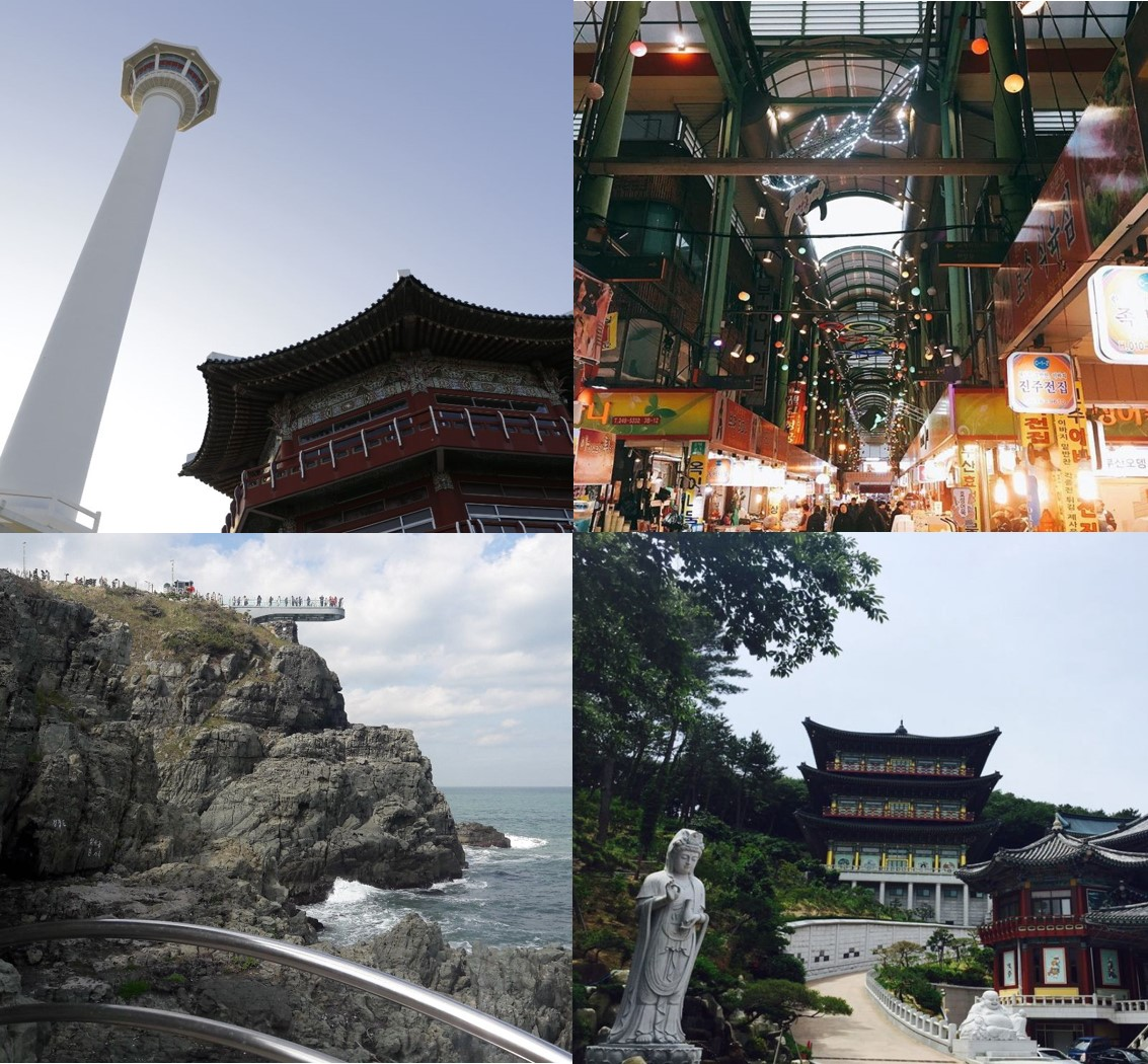 Busan Oneday City Tour: Busan Tower, Samgwangsa Temple, Gukje Market, Oryukdo Sky Walk (From Busan) | KoreaTravelEasy