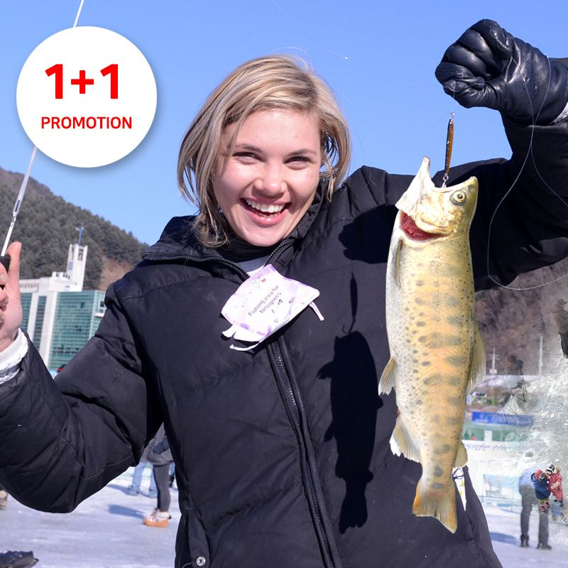1+1 Promo-Hwacheon Sancheoneo Ice Fishing Festival 1-Day  | KoreaTravelEasy