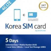 5-days-korea-sim-card-4g-unlimited-data-mobile-number-local-voice-krsim