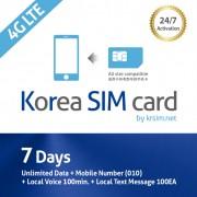 7-days-korea-sim-card-4g-unlimited-data-mobile-number-local-voice-krsim