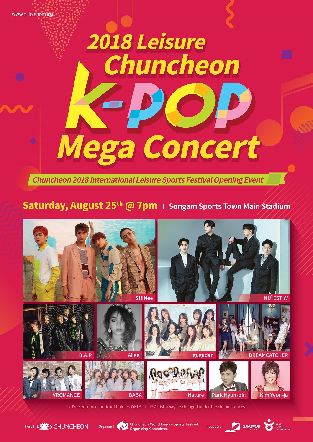 UP TO 65%, 2018 Leisure Chuncheon KPOP mega concert shuttle bus package (Aug 25) | KoreaTravelEasy