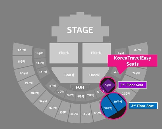 2018 Soribada Best K-music Awards Kpop Concert seat map
