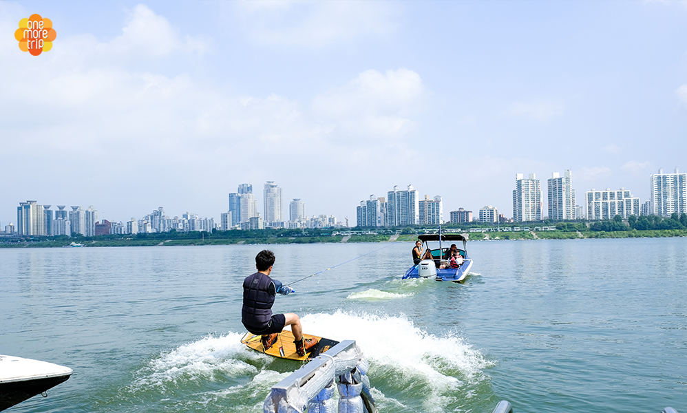 Han River water sports program water ski and wakeboard
