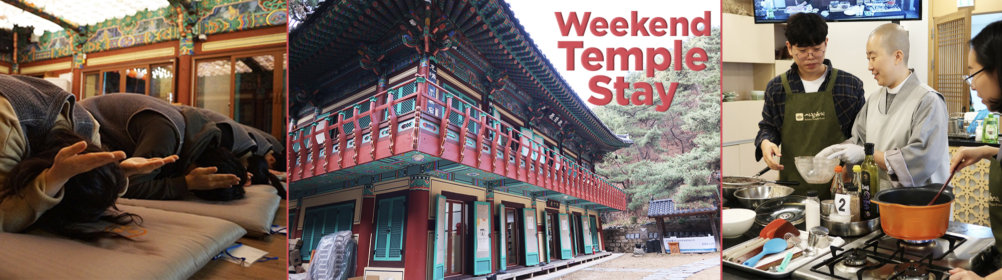 Geumsunsa Templestay and Temple Food Cooking Class Healing Package – In Seoul (Sat) | KoreaTravelEasy