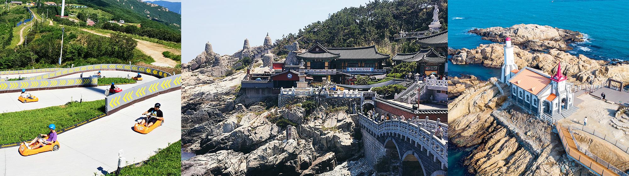 Busan City Full Day Tour – Enjoy a Luge Ride, Yonggungsa Temple and more – From Busan (Tue, Fri) | KoreaTravelEasy