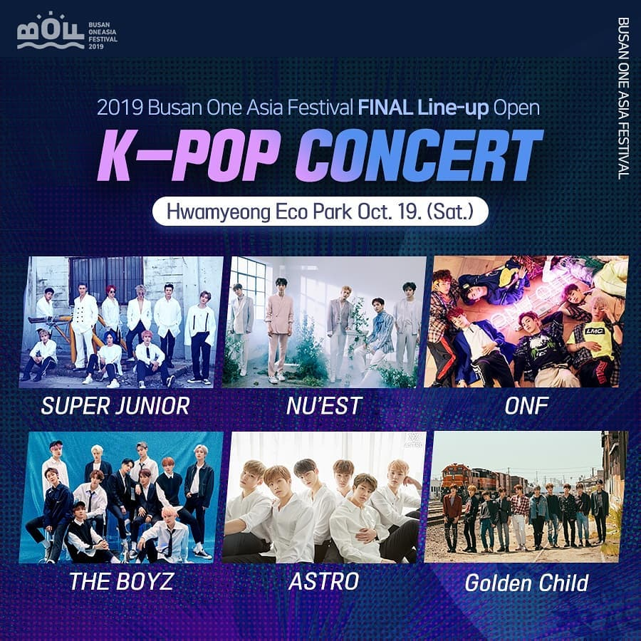 Busan One Asia Festival 2019 Line Up