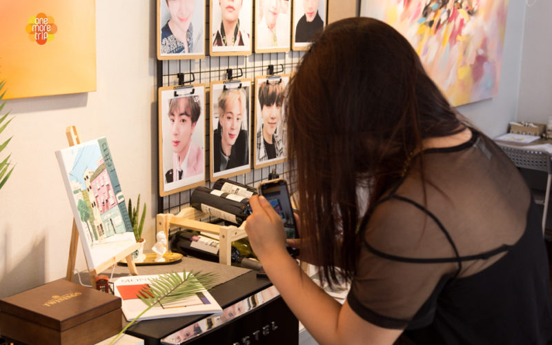 drawing experience one day class acrylic paint BTS and seoul