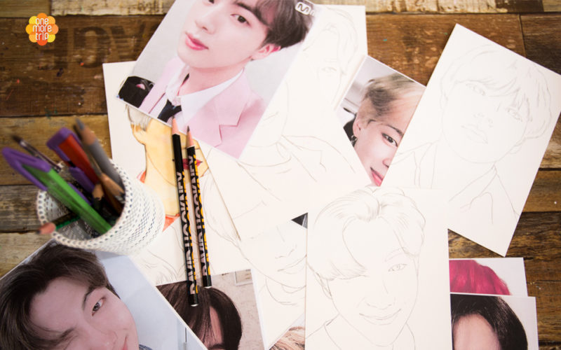 drawing experience oneday class BTS drawing