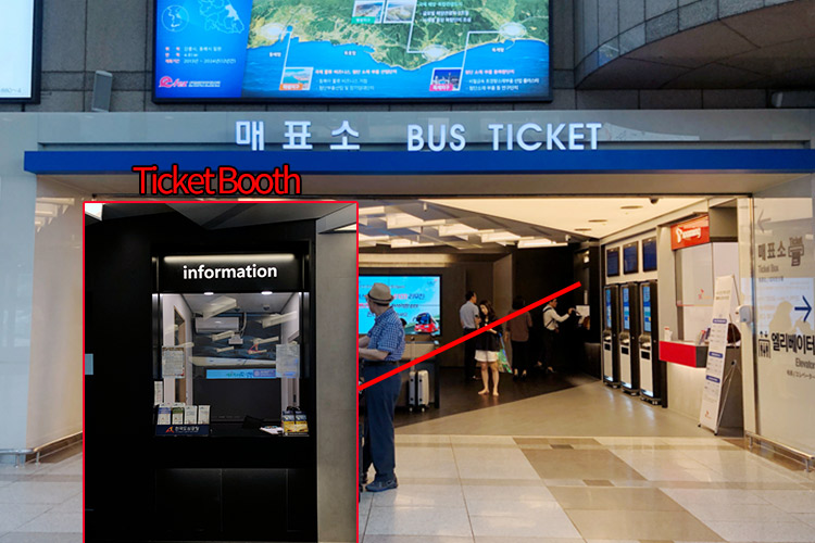 busticket box in coex