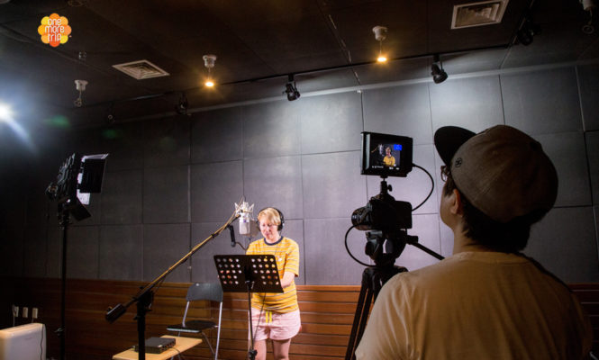 Recording and Filming K pop Cover in a Studio