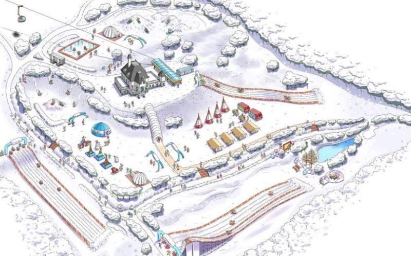snowy-land map