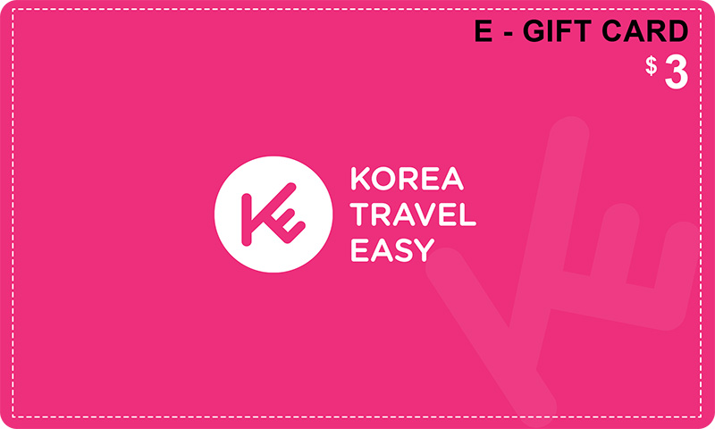 e-gift card 3usd koreatraveleasy