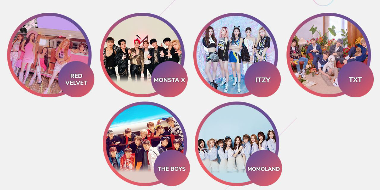 line up all red velvet monsta x and more
