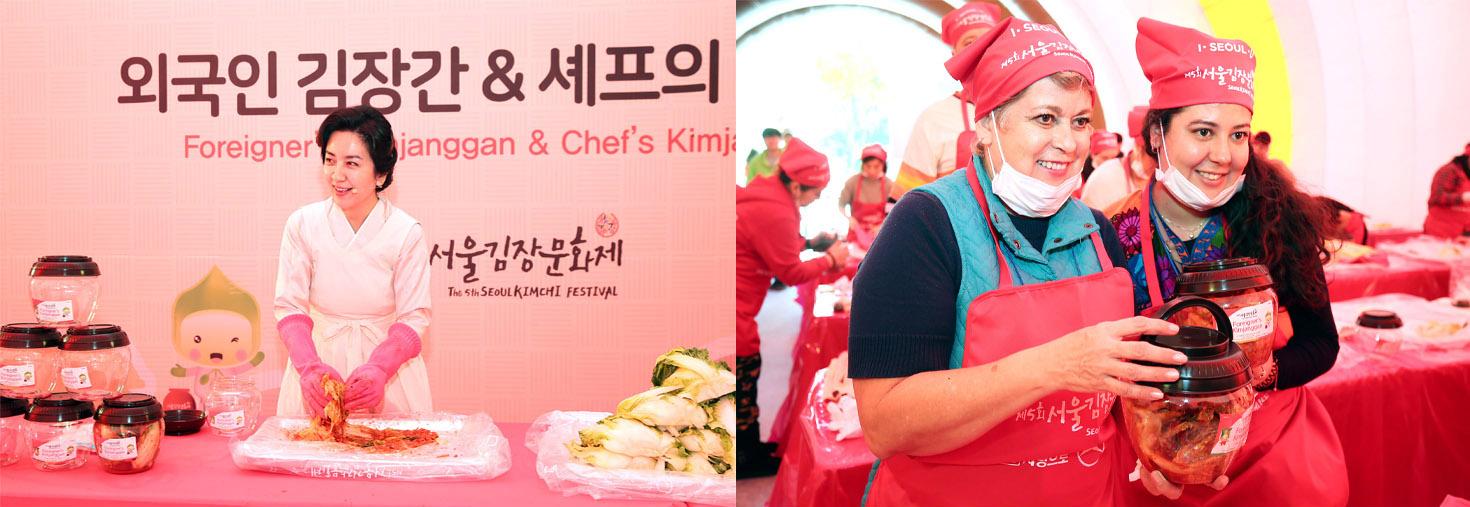 foreigner kimchi making oneday