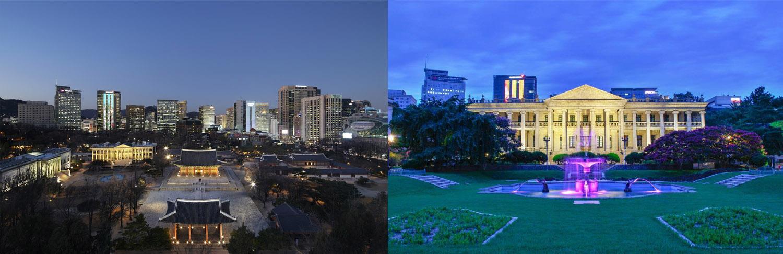 Deoksugung palace night view