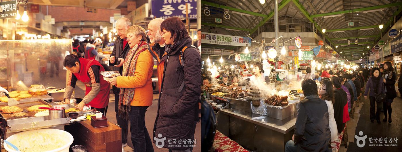 Gwangjang Market in seoul