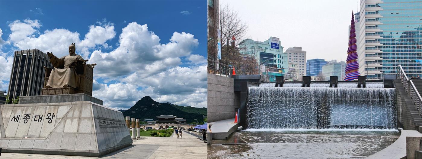 Cheonggyecheon stream king sejong
