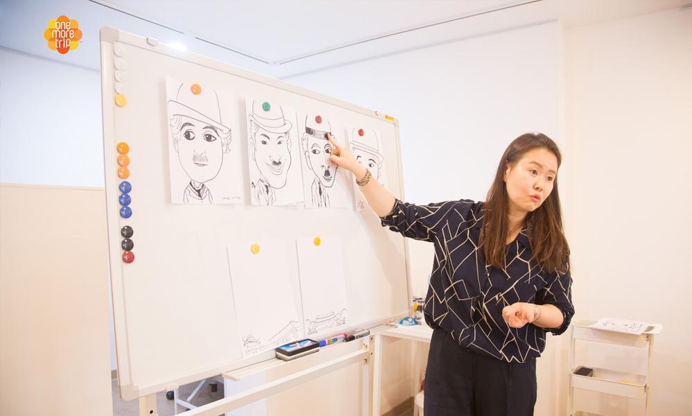 Artist-teaching-caricature