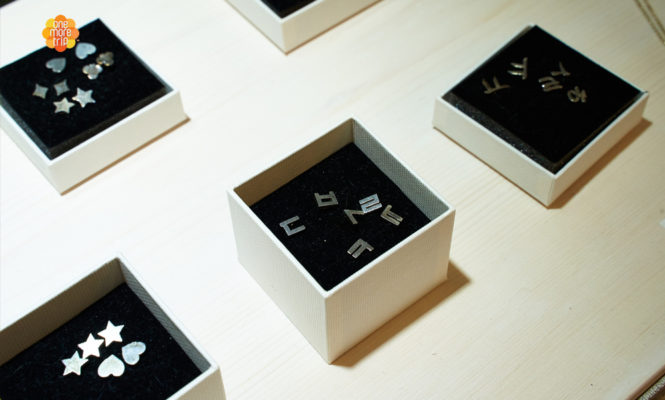 Hangeul Silver Jewelry Pieces