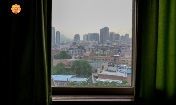 Guest house window view