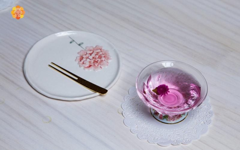 Flower tea experience tea set