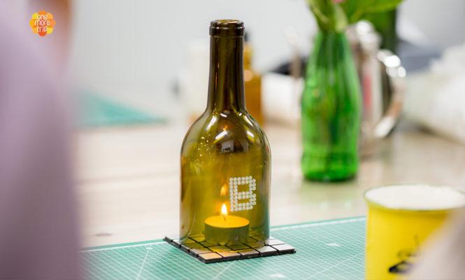 upcycling bottle candle