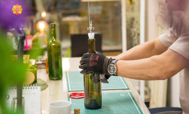 upcycling cutting bottle