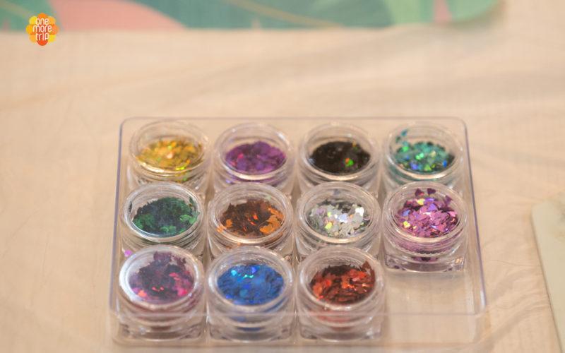 glitter for decorating soju glass