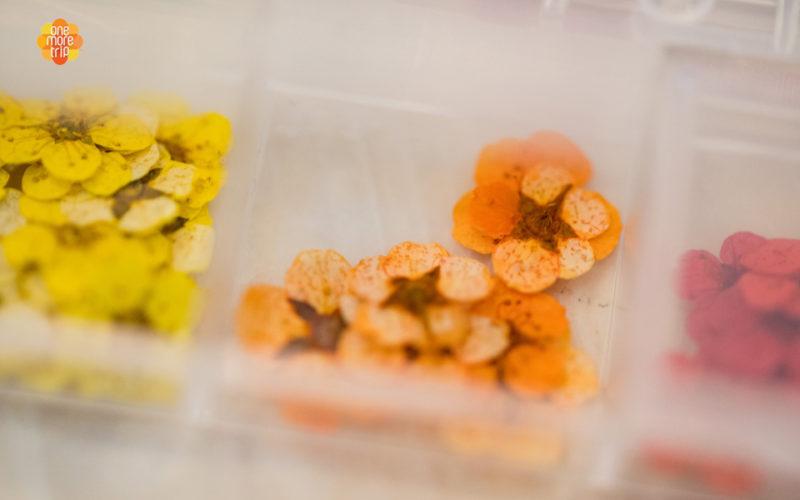 press flowers for soju glass
