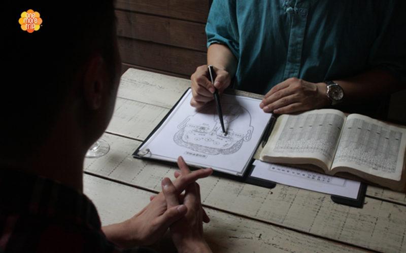 Korean fortune teller face reading