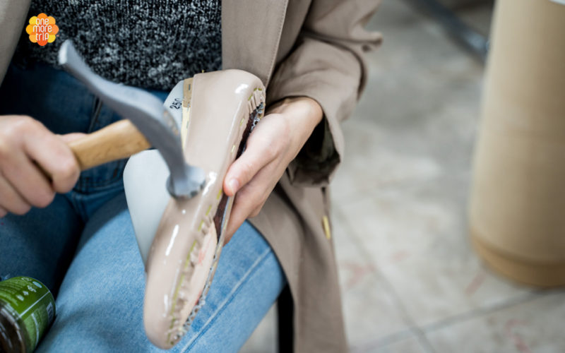 shoe making using hammer