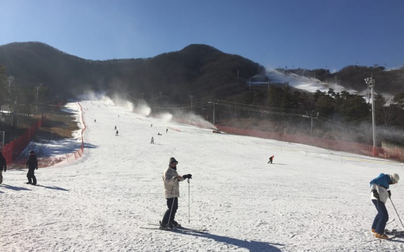 jisan resort snow slope