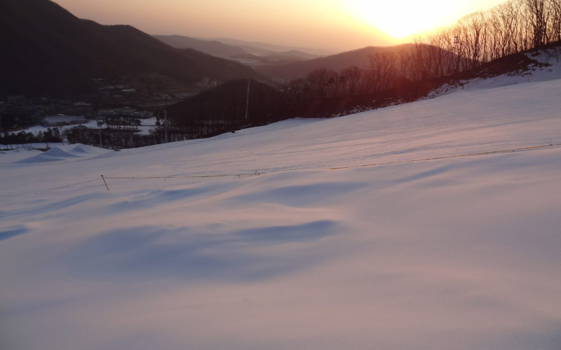 jisan resort snow