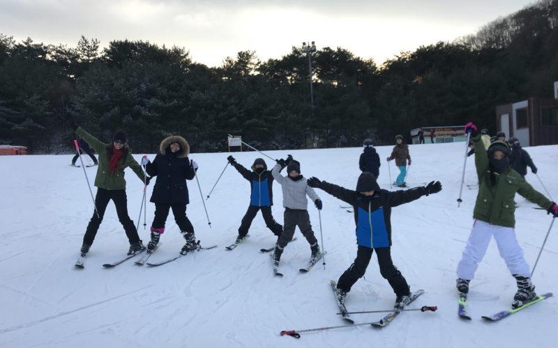 alpensia group skiing