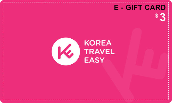 e-gift card-3usd-koreatraveleasy coupon