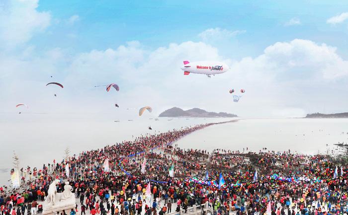 jindo miracle sea route festival panorama