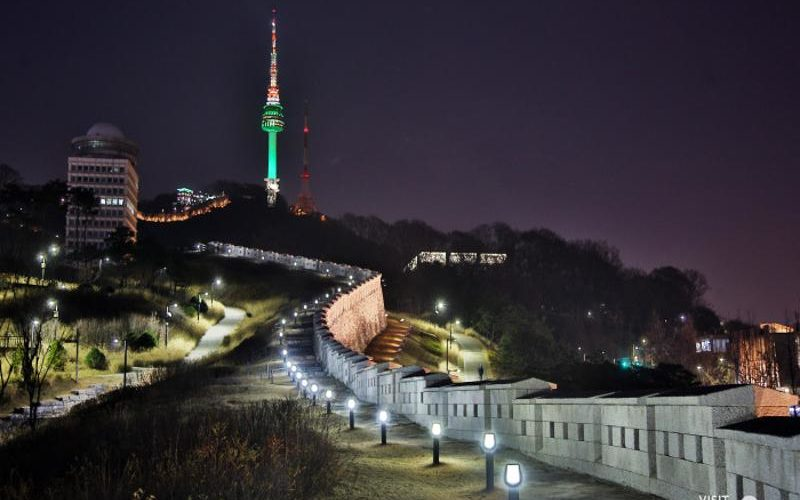 seoul city wall night view
