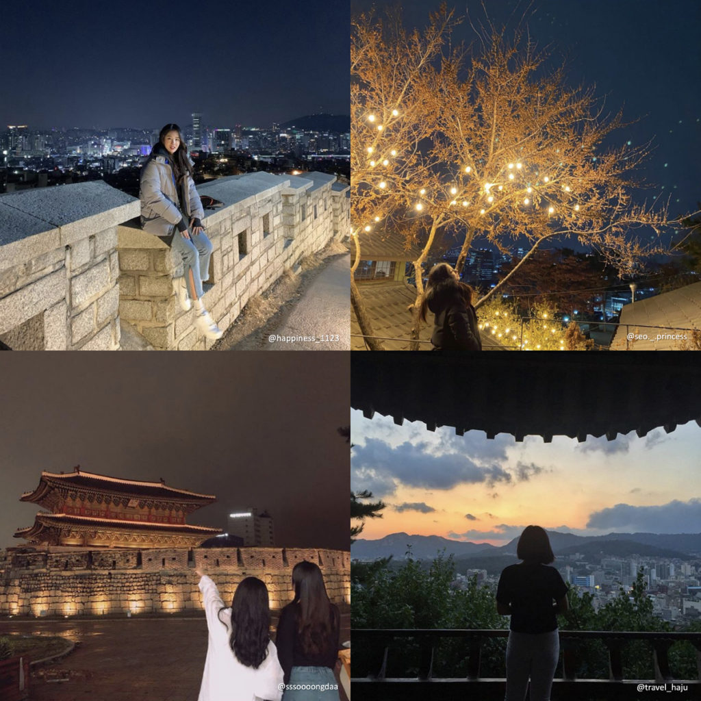 seoul night tour collage