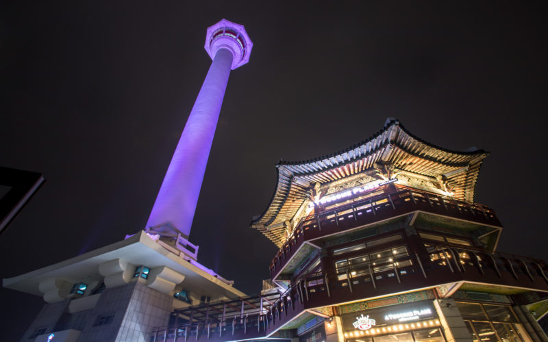 busan tower from below