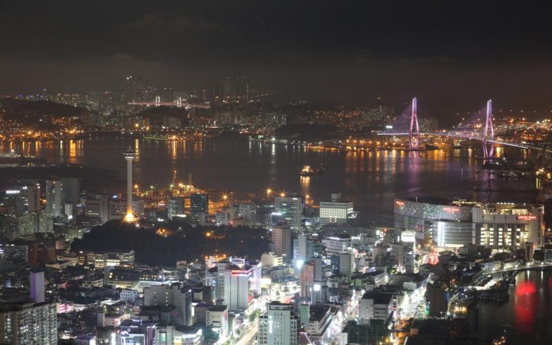 busan tower night view