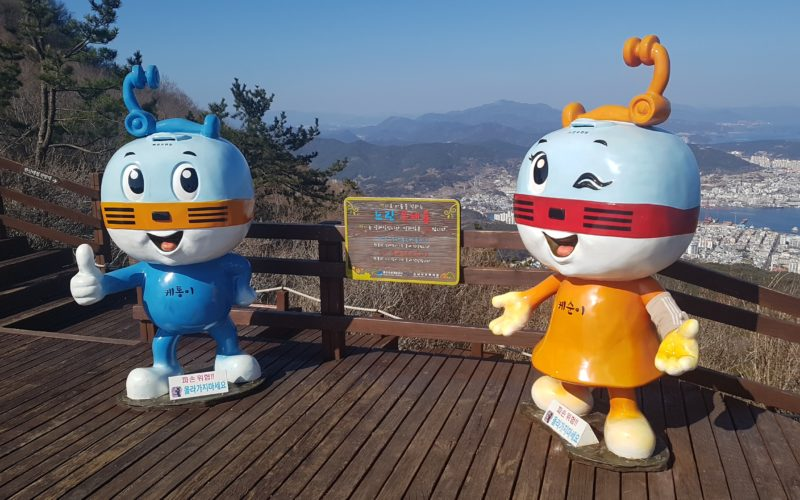 tongyeong cable car mascots
