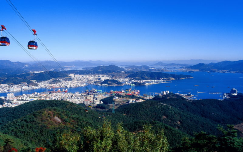 tongyeong cable panorama